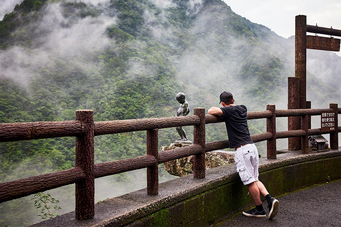 三好市「祖谷渓の小便小僧」