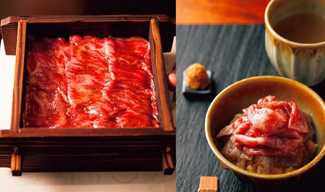 豪華2段重ね肉せいろ蒸しはコースの〆の逸品。