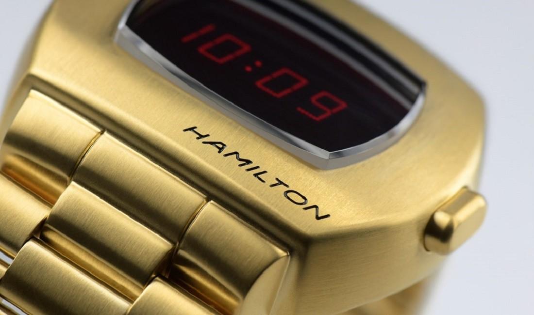 ボタンを押さずともLEDを表示させる新機能は「ハミルトン パルサー」のファンにとって朗報以外の何物でもない。