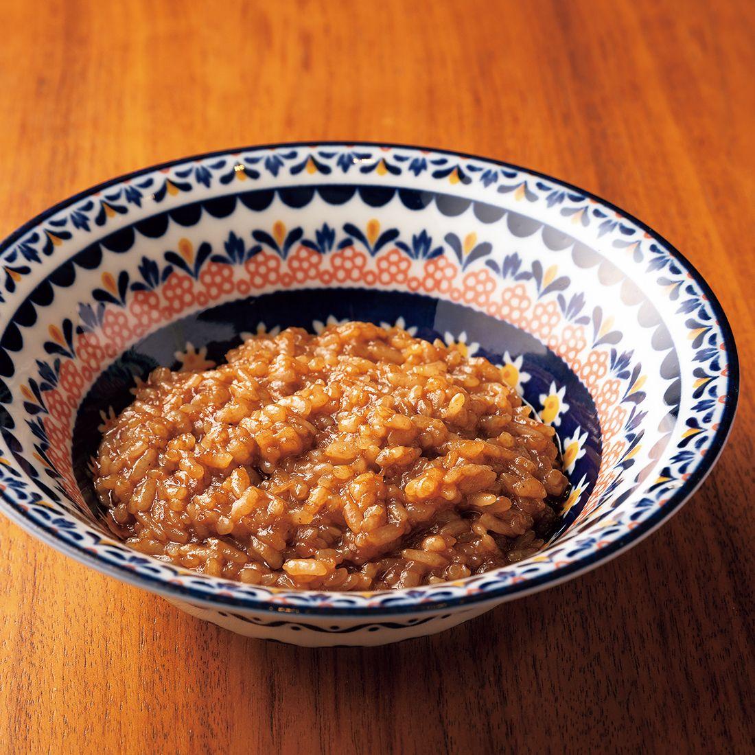アメリケーヌソースの旨味が濃厚な「海老のリゾット」。