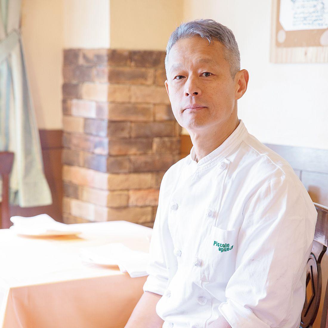 オーナーシェフの松倉氏。