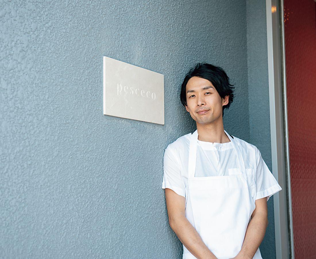 シェフの井上稔浩氏。