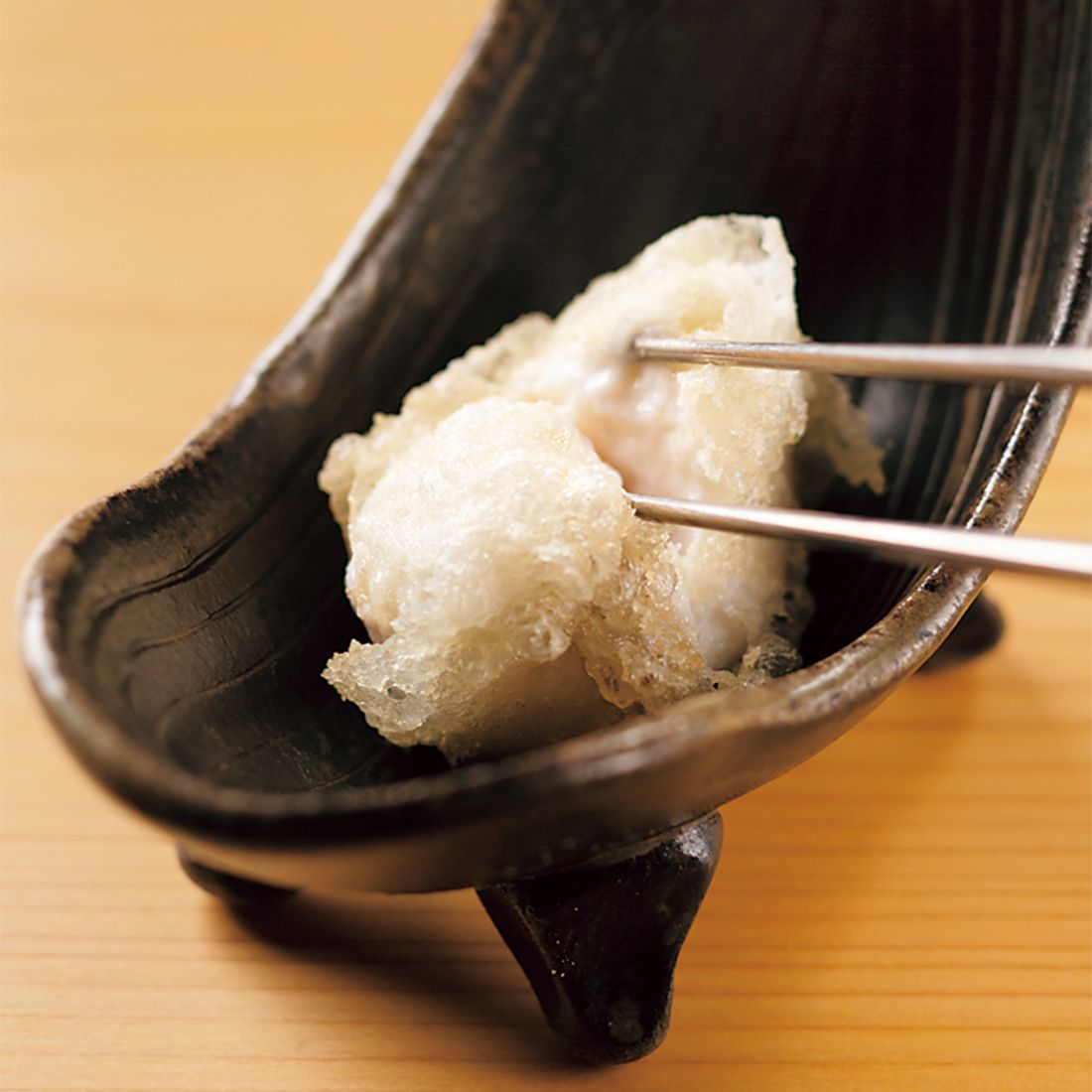 トラフグの白子の天ぷら。