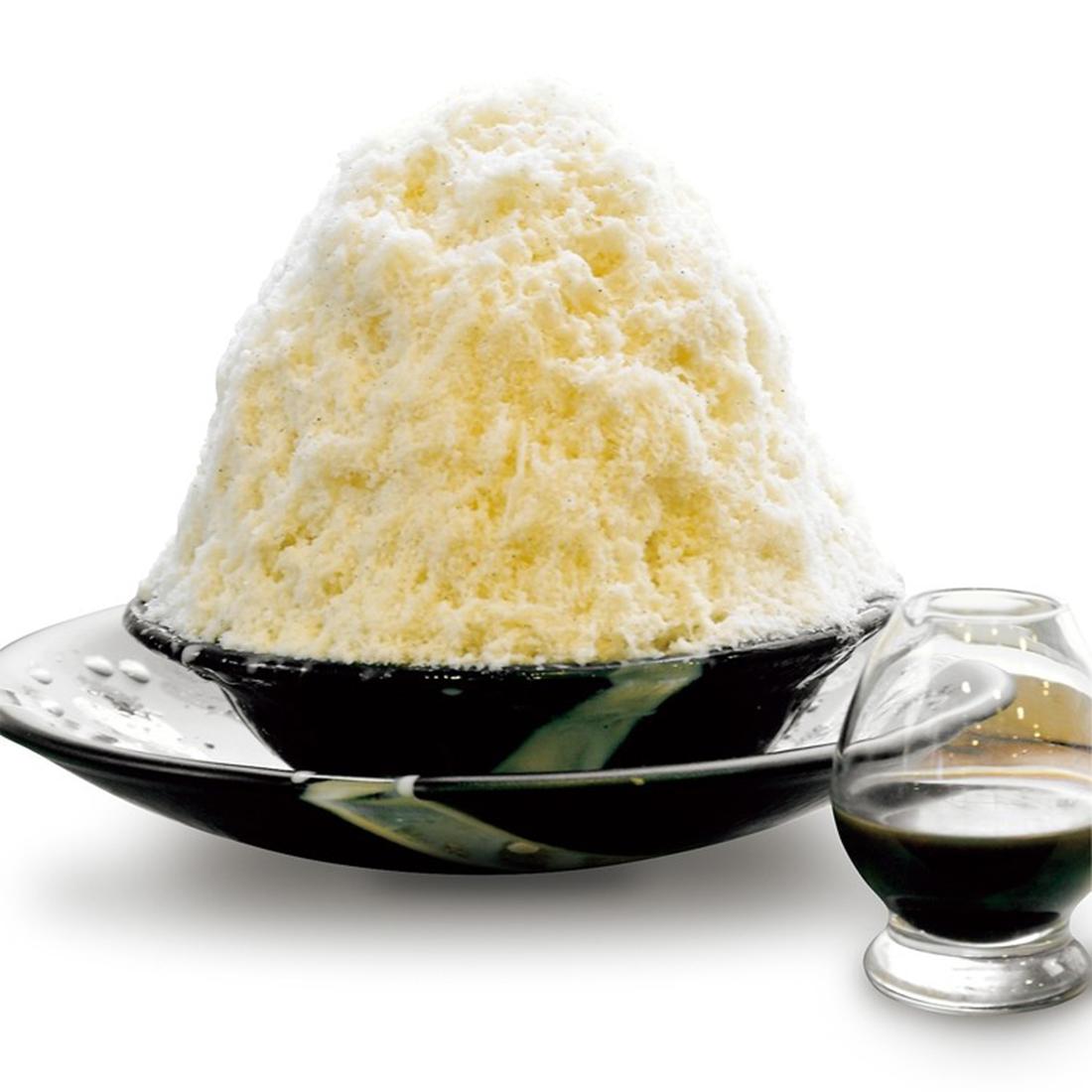 最高品質のバニラビ ーンズとコーヒー豆使用、タヒチアンバニラミルク& ブラジル式エスプレッソ