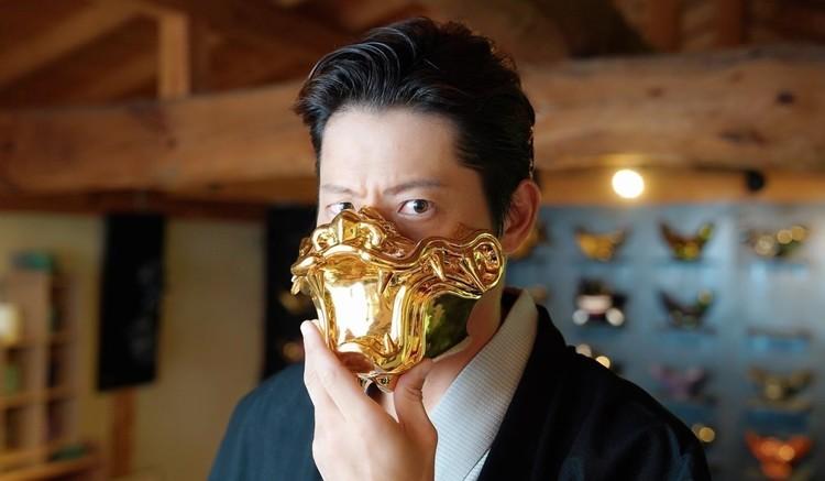 古賀さんの代表作「頬鎧盃(ほおよろいはい)」。