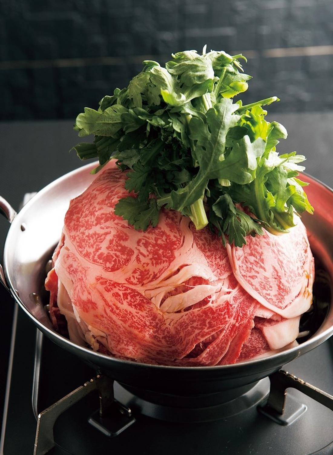 特選牛すき鍋。