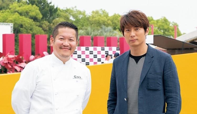 左が「ラ・メゾン・ドゥ・ラ・ナチュール・ゴウ」のオーナーシェフ・福山剛さん。超人気店のシェフがコラボする、チケット即完売の美食の祭典「DREAM DUSK」にも参加した。