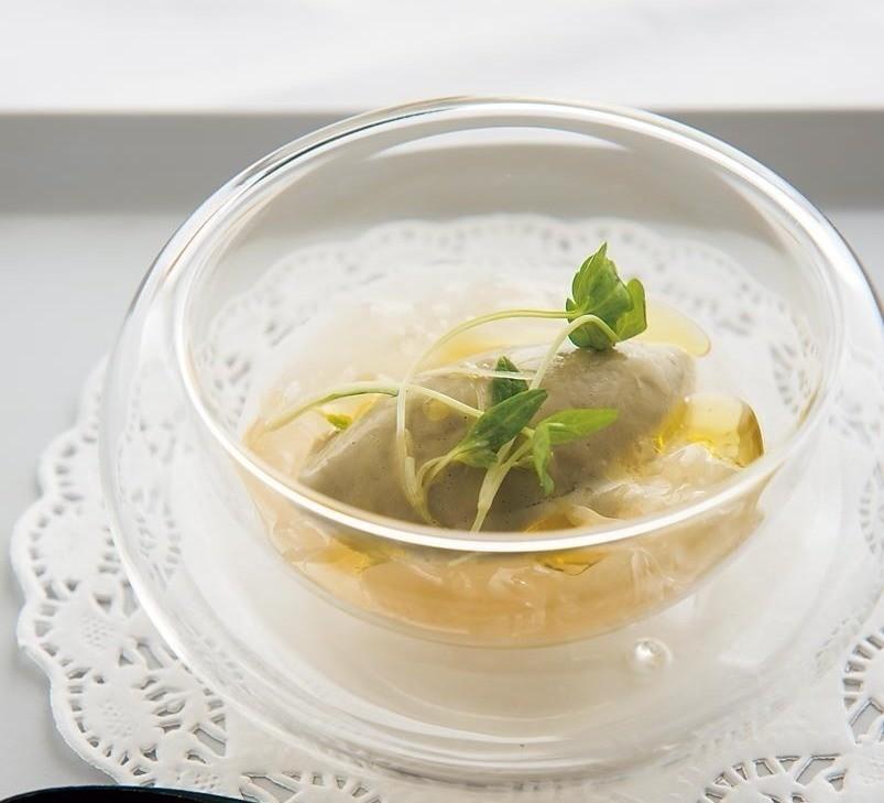 生牡蠣のジェラート。