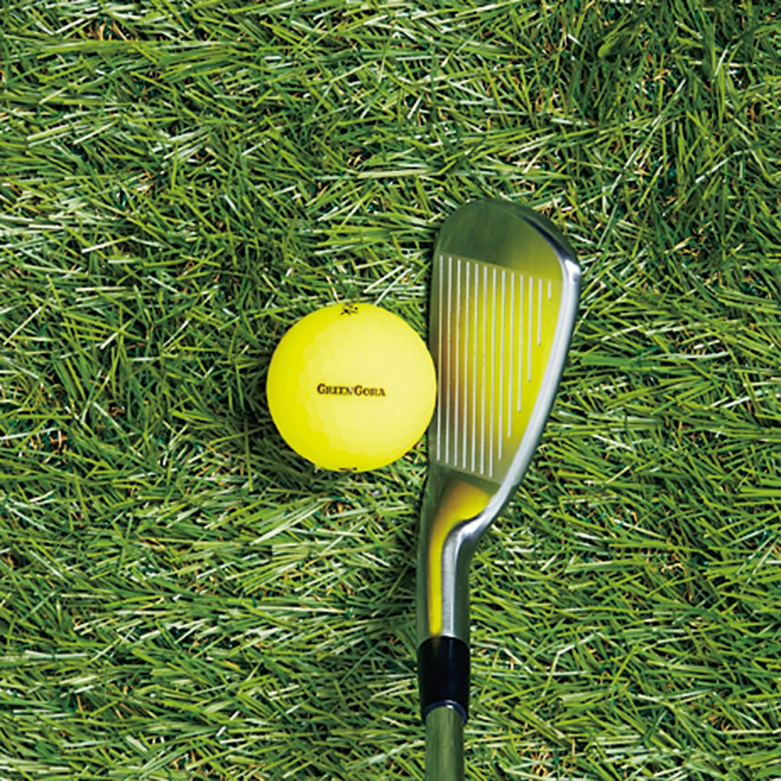 アイアンはボールの左側を見ると目線軸がキープできる。