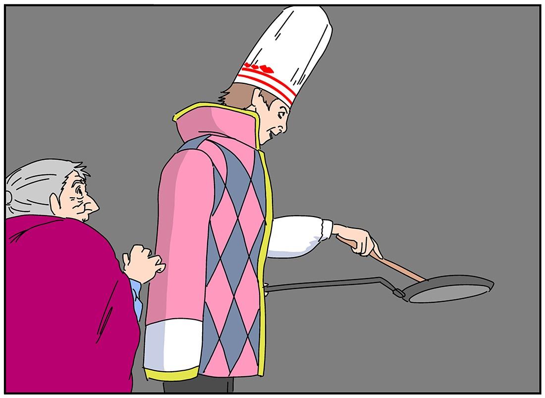 ベーコンエッグをカッコよく作るシーンはビストロSMAPが頭を過ぎるはず。