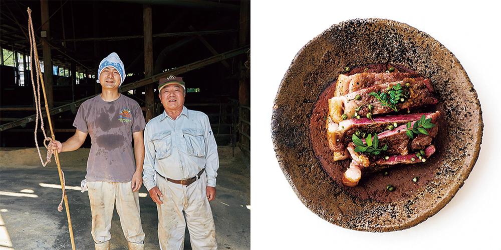 「秋川牛のサーロインステーキ、山椒風味」
