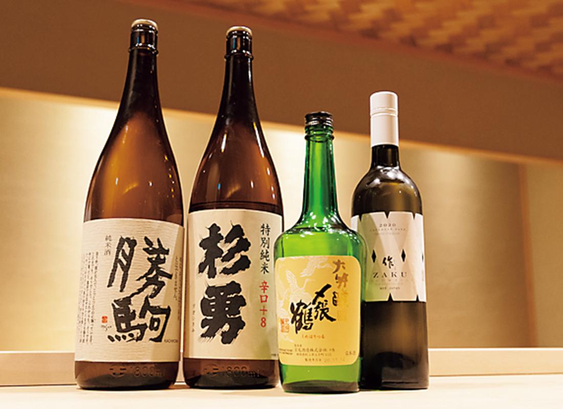 日本酒は常時30種
