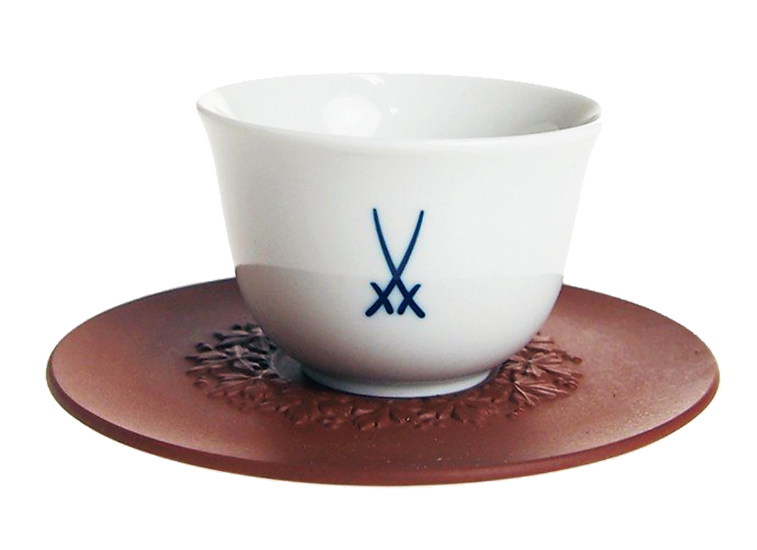 MEISSEN/剣マーク 煎茶カップ&ソーサー