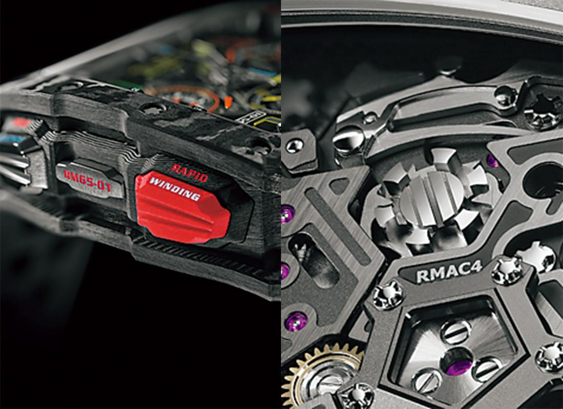 RM 65-01オートマティック スプリットセコンド クロノグラフ