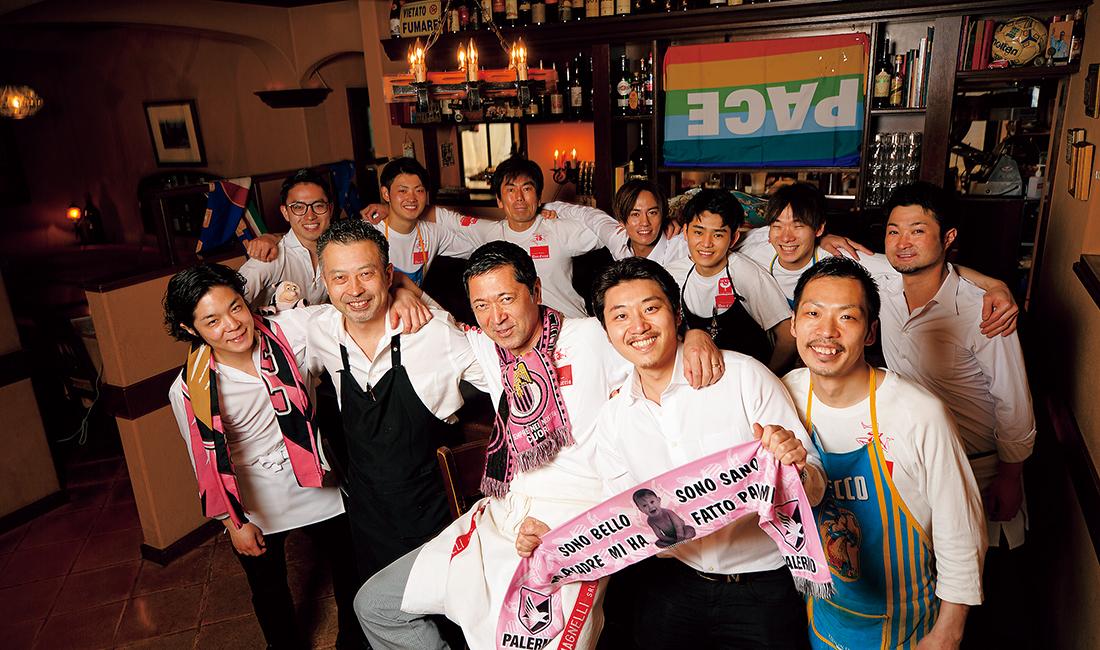 石川勉シェフとともに店を盛り上げる11名のスタッフ