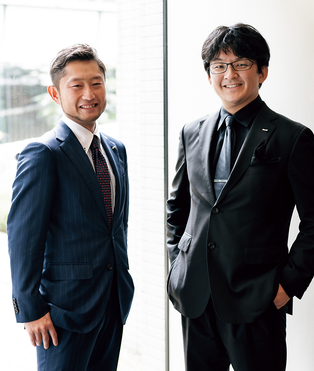 山中 真社長と営業担当の古井俊寛氏