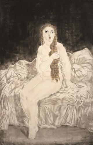 裸婦像 長い髪のユキ