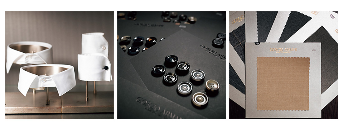 ARMANI SALONE Made To Measure テクニカルルーム01