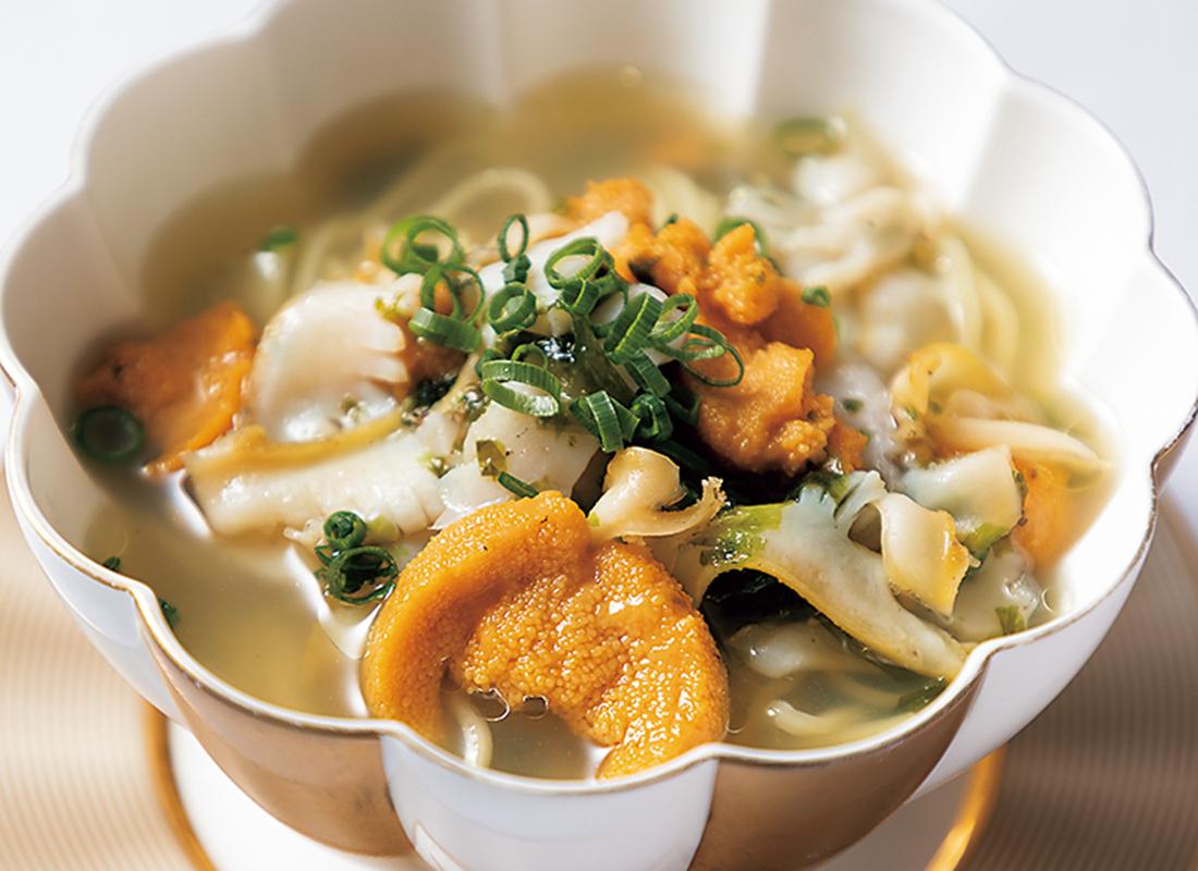 いちご煮のスープ麺