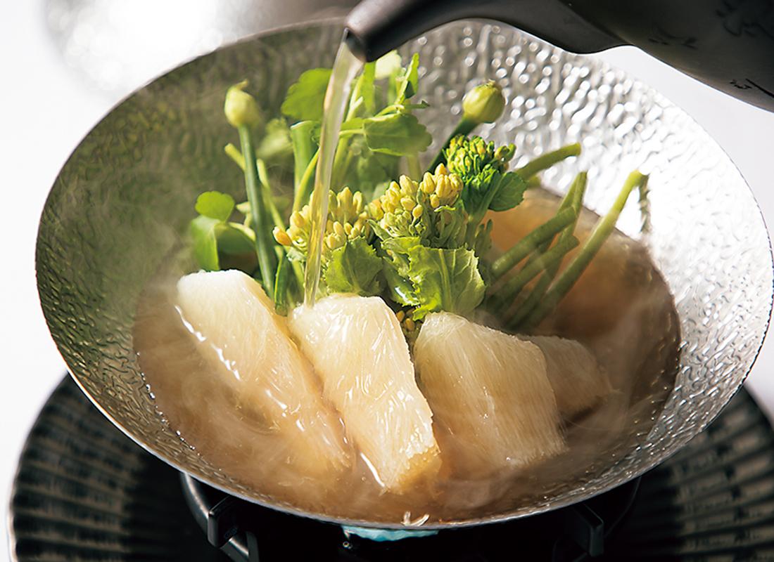 吉切鮫 春野菜上湯スープ