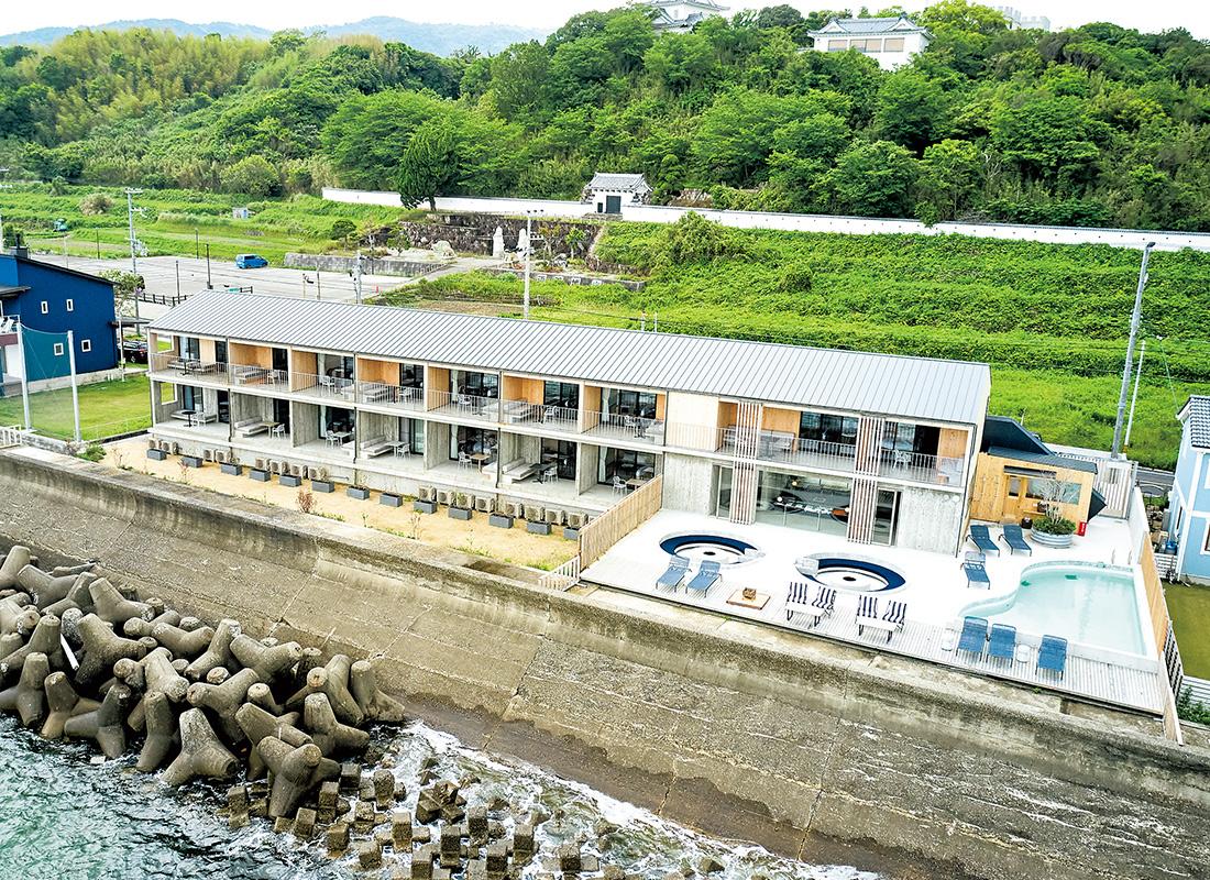淡路市の西海岸エリアに開業した全室オーシャンビューのホテル