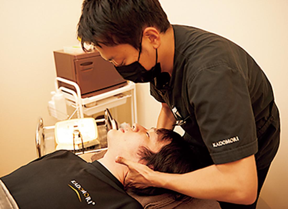 首の骨の調整