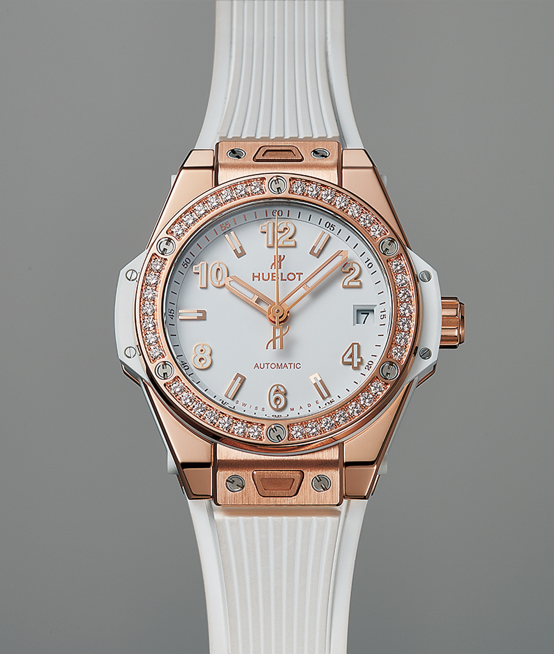 ビッグ・バン ワンクリック キングゴールド ホワイト ダイヤモンド
