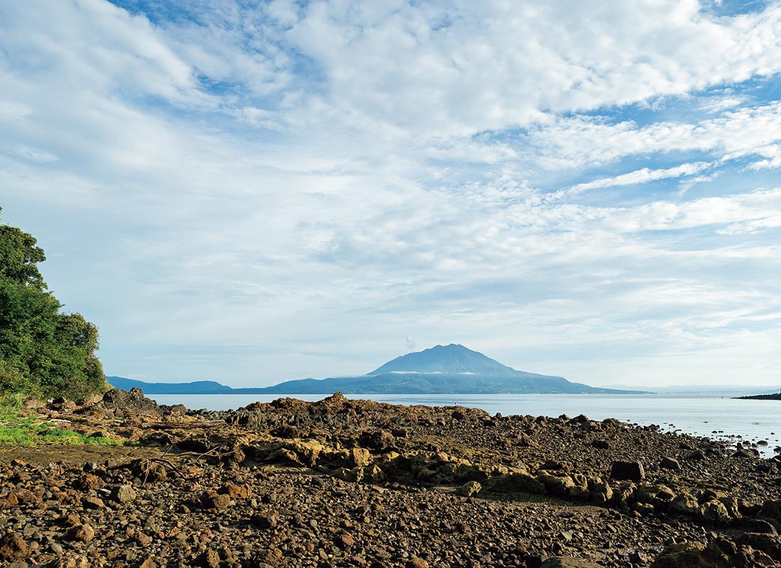 弁天島南西側から見える桜島