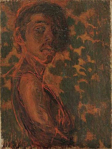 青木 繁《自画像》1903年 石橋財団アーティゾン美術館蔵